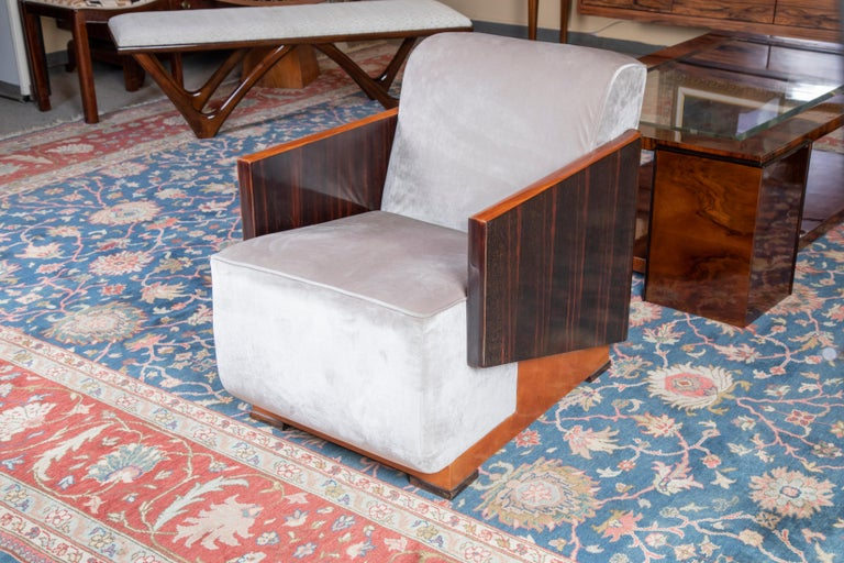 Hungarian Art Deco Armchairs In Excellent Condition For Sale In Houston, TX