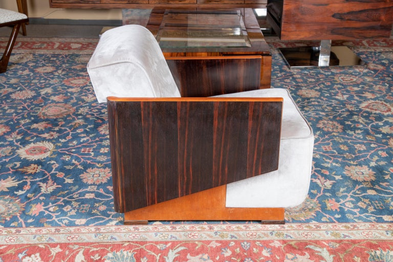Mid-20th Century Hungarian Art Deco Armchairs For Sale