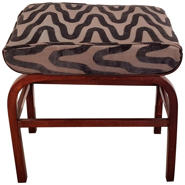 Hungarian Art Deco Beechwood Bench, 1930s For Sale