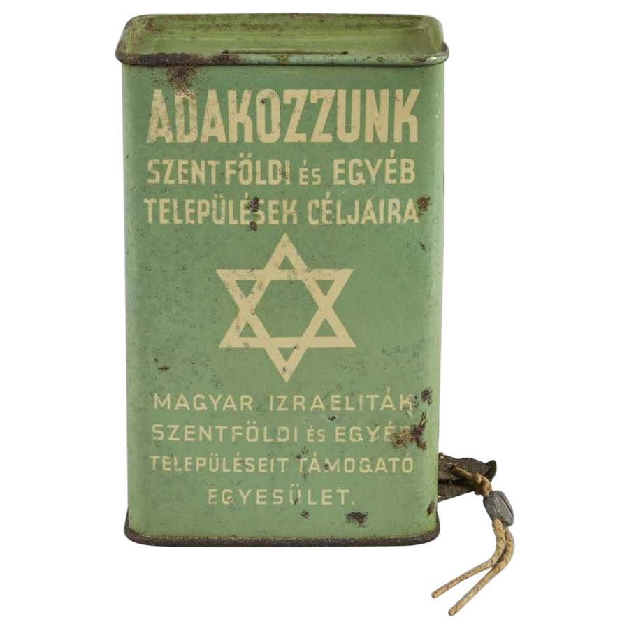 Early 20th Century Hungarian Tin Charity Box