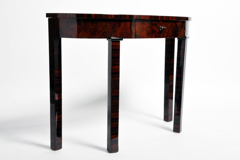 Mid-Century Modern Hungarian Console Table with Drawer For Sale