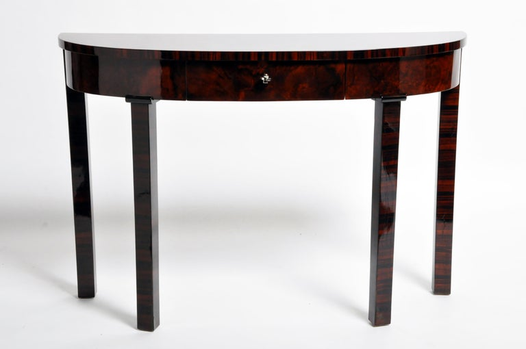 Veneer Hungarian Console Table with Drawer For Sale