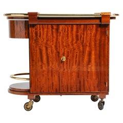 Hungarian Mid-Century Modern Mahogany Bar Cart