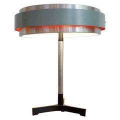 Hungarian Midcentury Round Table Lamp in Jo Hammerburg Style 'Danish Design'