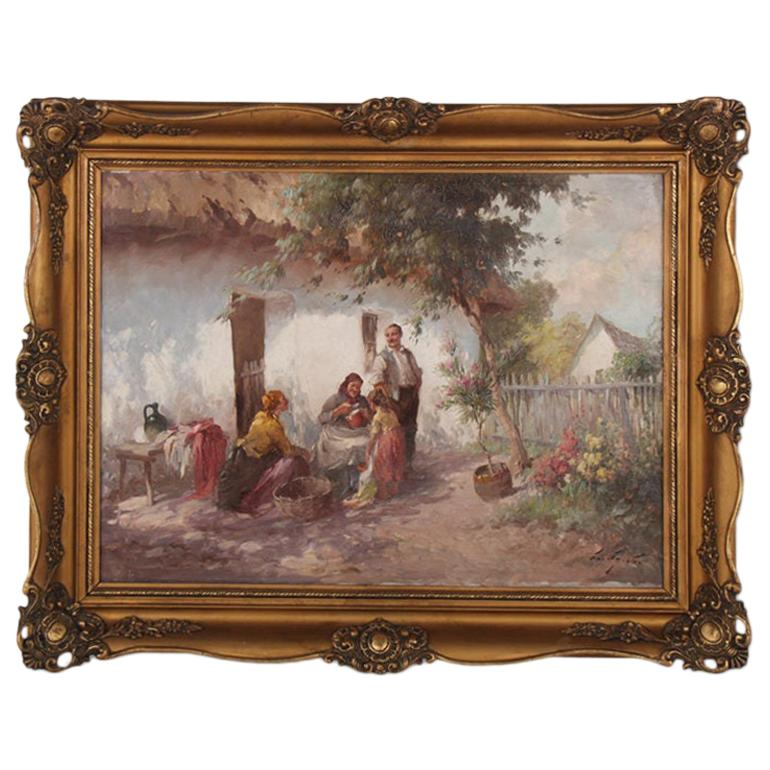 Hungarian Oil Painting
