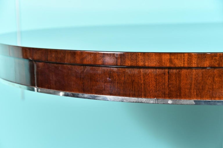 Hungarian Oval Dining Room Table in Walnut, Art Deco Period For Sale 2