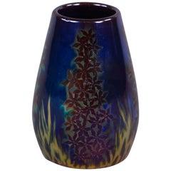 Ungarisches Porzellan Eosin Glasierte Kleine Vase, Zsolnay, circa 1900
