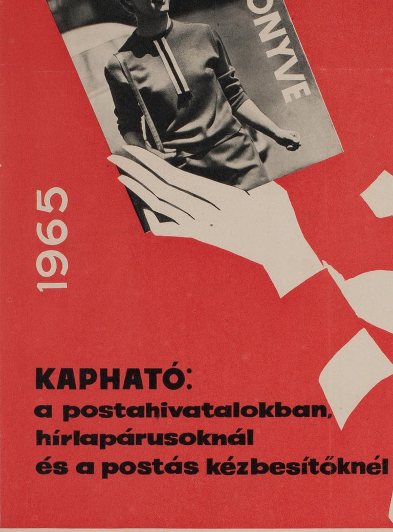 Hungarian Womens' Newspaper Yearbook Advertising Poster, 1964, Balogh In Good Condition For Sale In Bath, Somerset