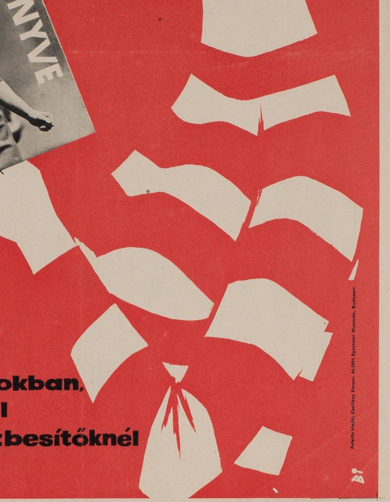 20th Century Hungarian Womens' Newspaper Yearbook Advertising Poster, 1964, Balogh For Sale