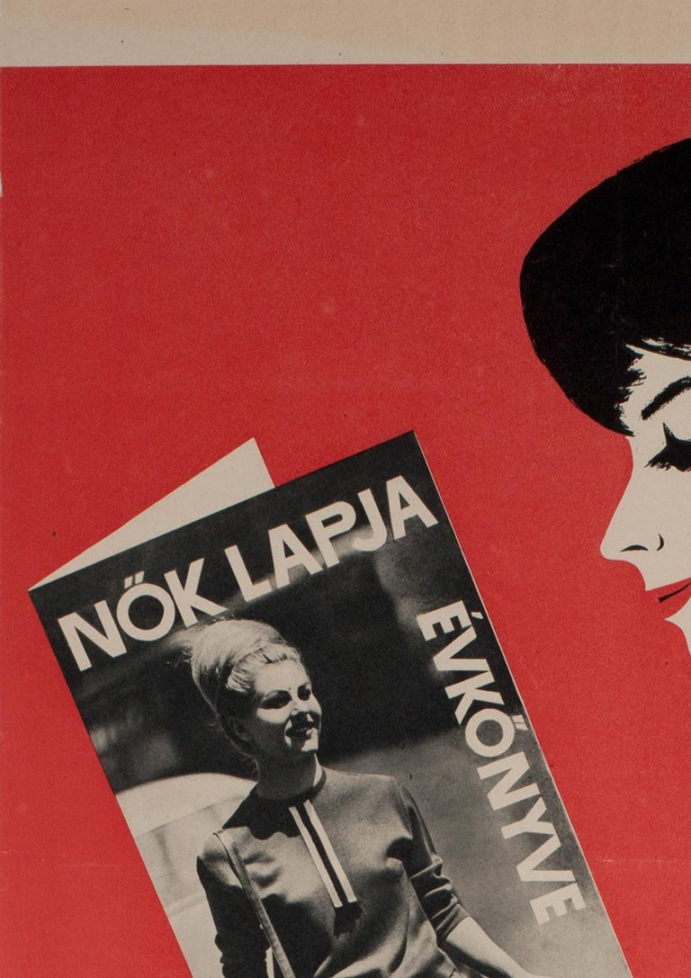 Hungarian Womens' Newspaper Yearbook Advertising Poster, 1964, Balogh For Sale 1