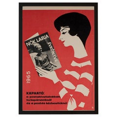 Hungarian Womens' Newspaper Yearbook Advertising Poster, 1964, Balogh