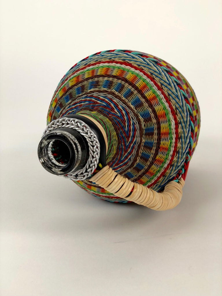 Hungarian Woven Wire Bottle, 1960 For Sale 2