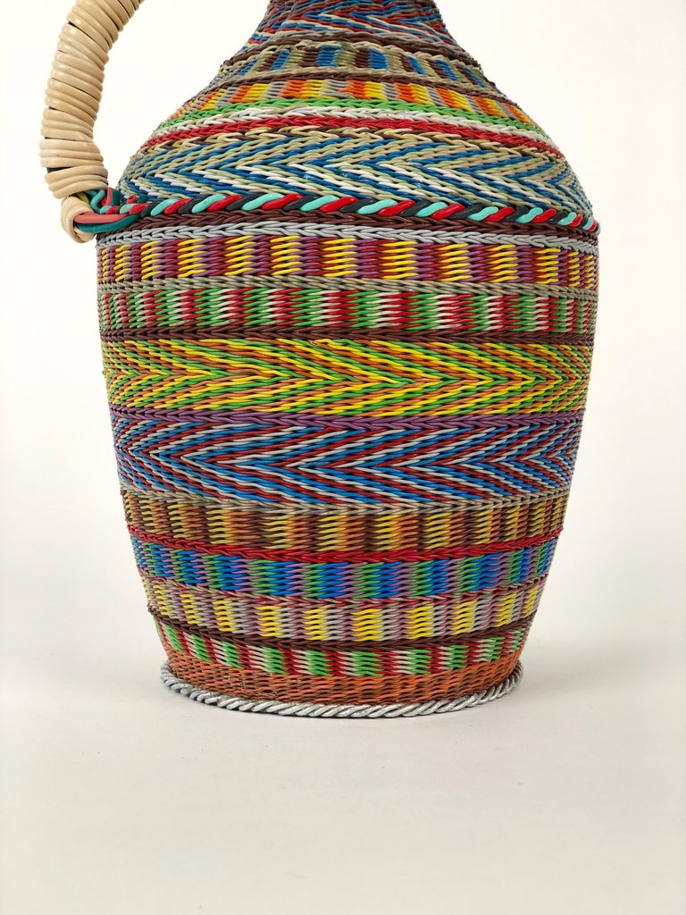 Hungarian Woven Wire Bottle, 1960 For Sale 3