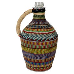 Hungarian Woven Wire Bottle, 1960