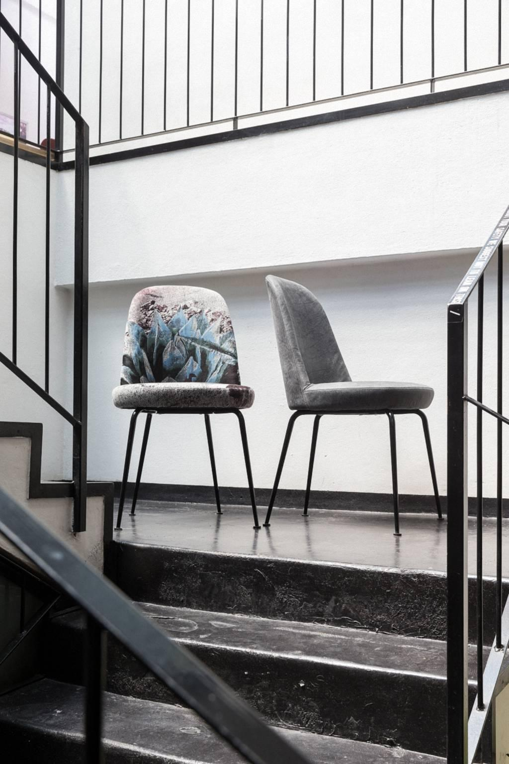 Hungry Upholstered Chair With Painted Steel Frame And Base By Moroso For Sel At 1stdibs