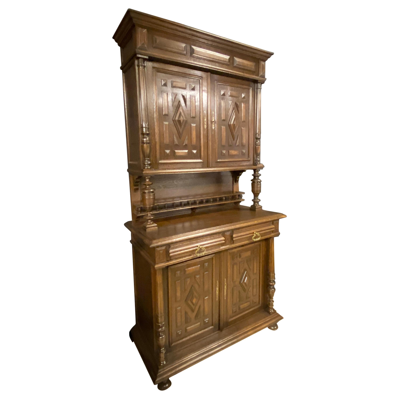 Hunt Cupboard Oak, Bar Cabinet