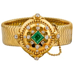 Hunt & Roskell Emerald and Diamond Bracelet