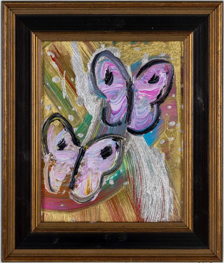 Hunt Slonem Animal Painting - 2 Butterflies