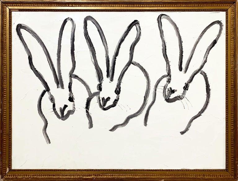 3 (Bunnies) - Painting by Hunt Slonem