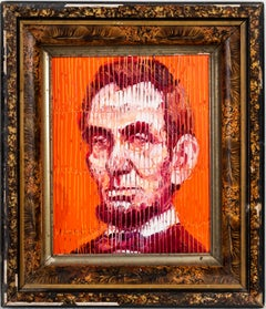 """""""Abe"""" oil on wood painting by Hunt Slonem, Contemporary artist"""