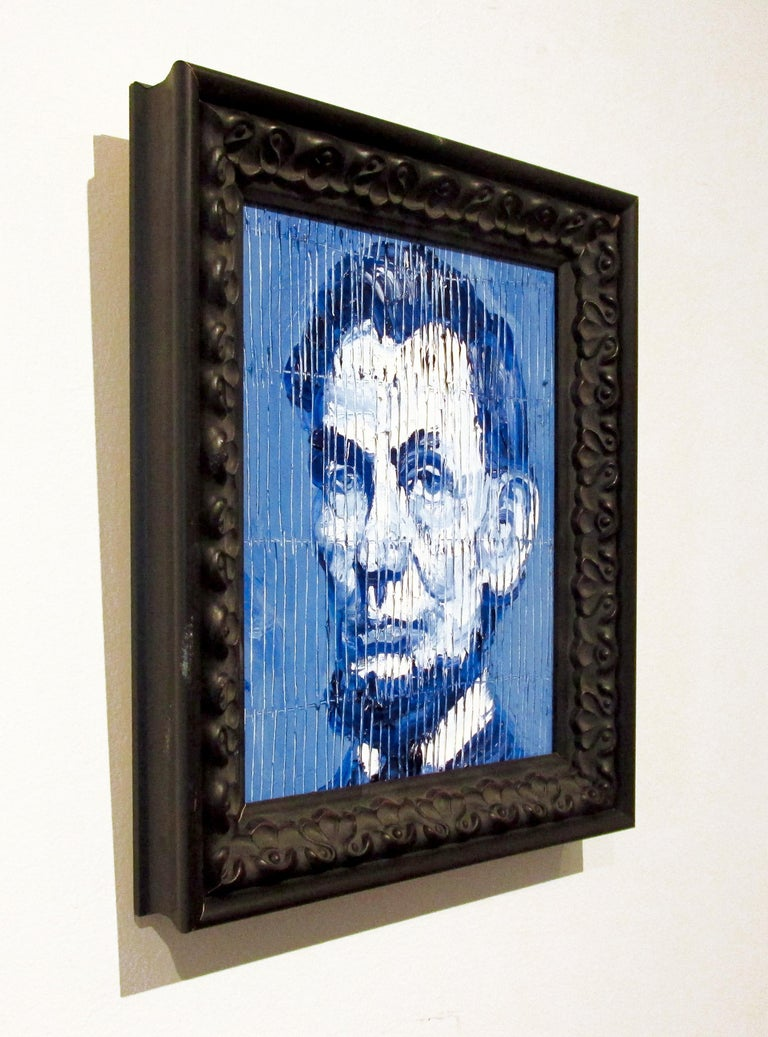 Artist:  Slonem, Hunt Title:  Abe Lincoln Series:  Abe Lincoln Date:  2020 Medium:  Oil on wood Unframed Dimensions:  10