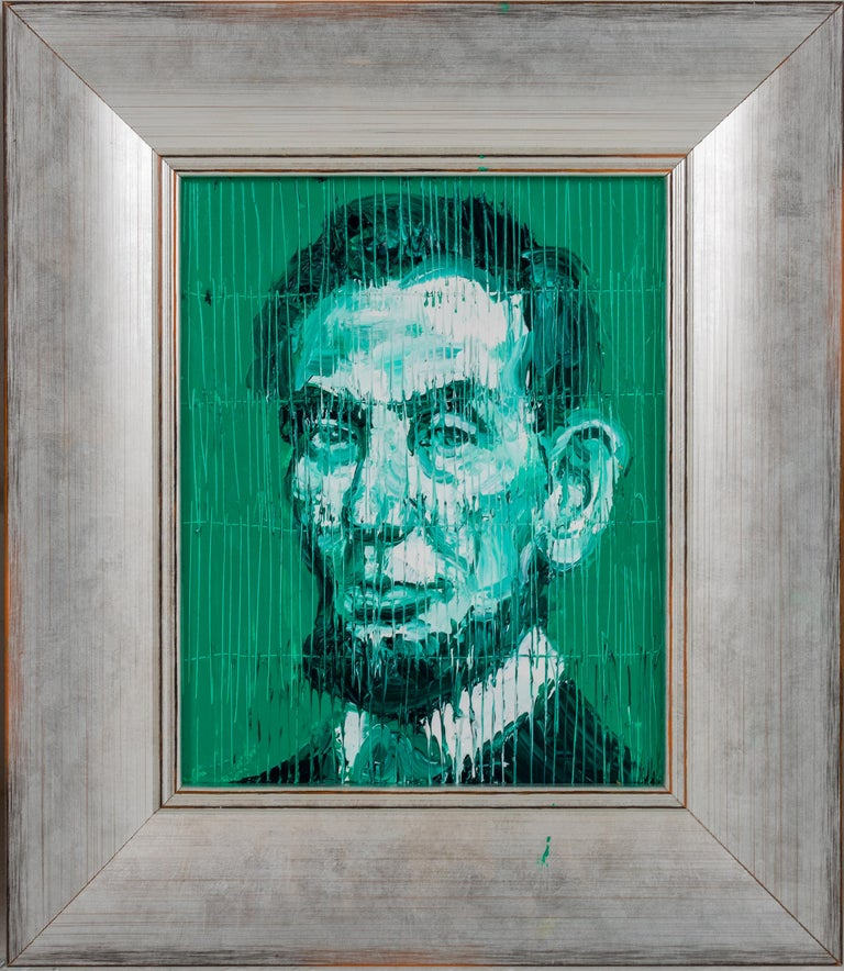 Hunt Slonem Portrait Painting - Abe Lincoln