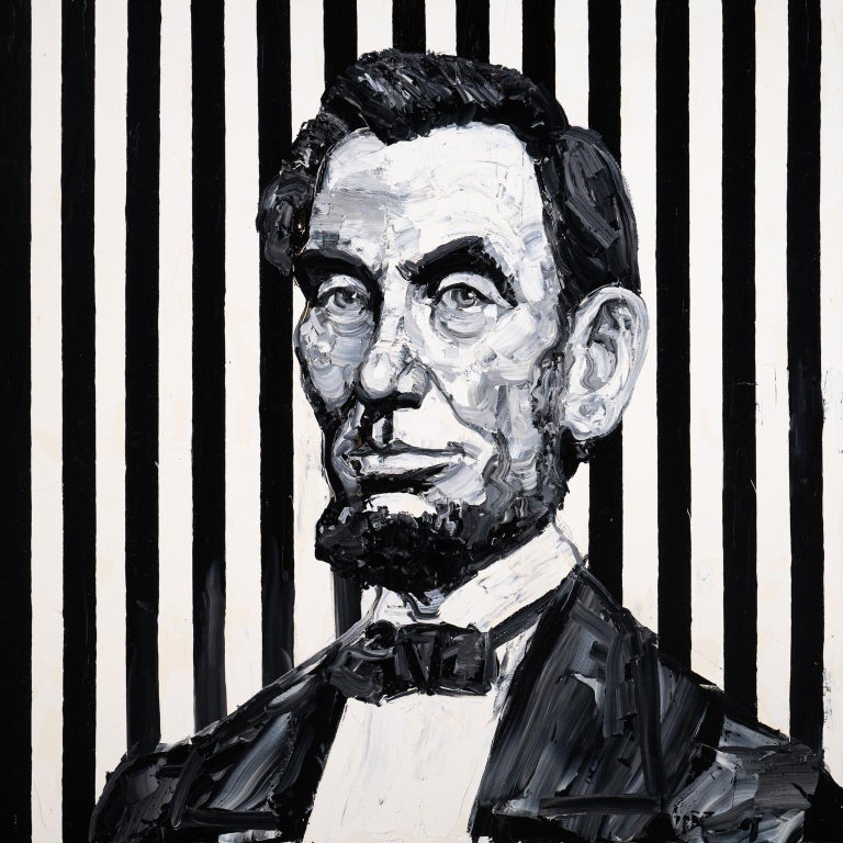 Abraham Lincoln - Painting by Hunt Slonem