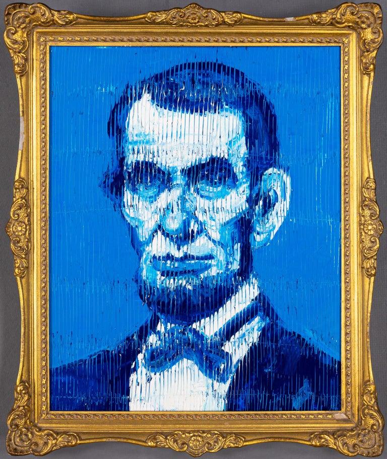 Hunt Slonem Portrait Painting - Abraham Lincoln