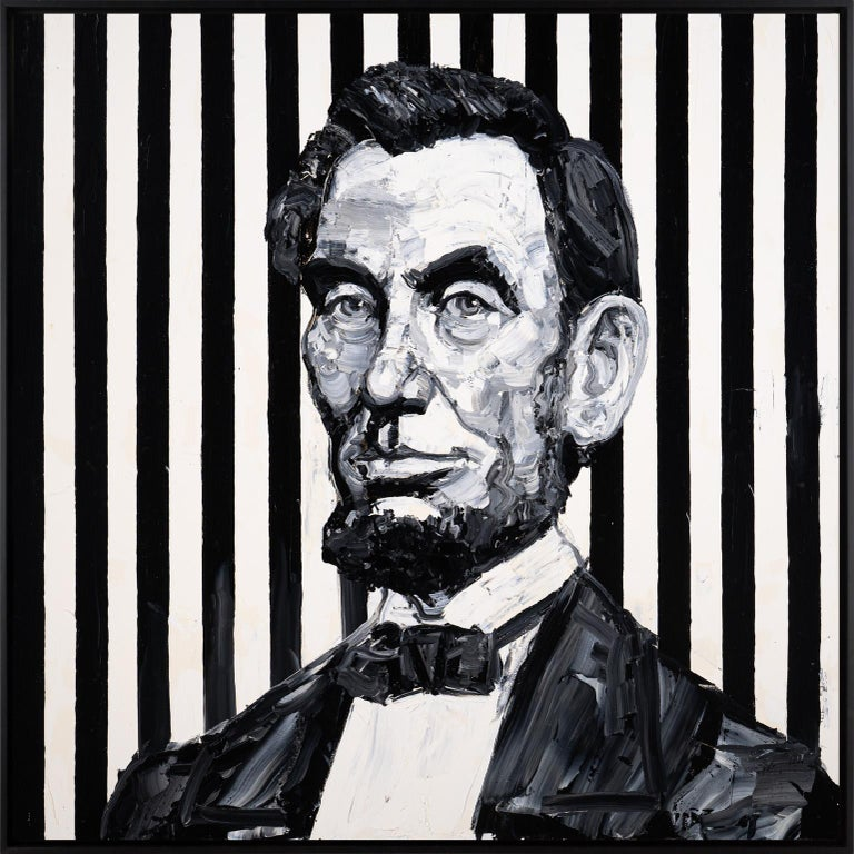 Hunt Slonem Portrait Painting - Abraham Lincoln