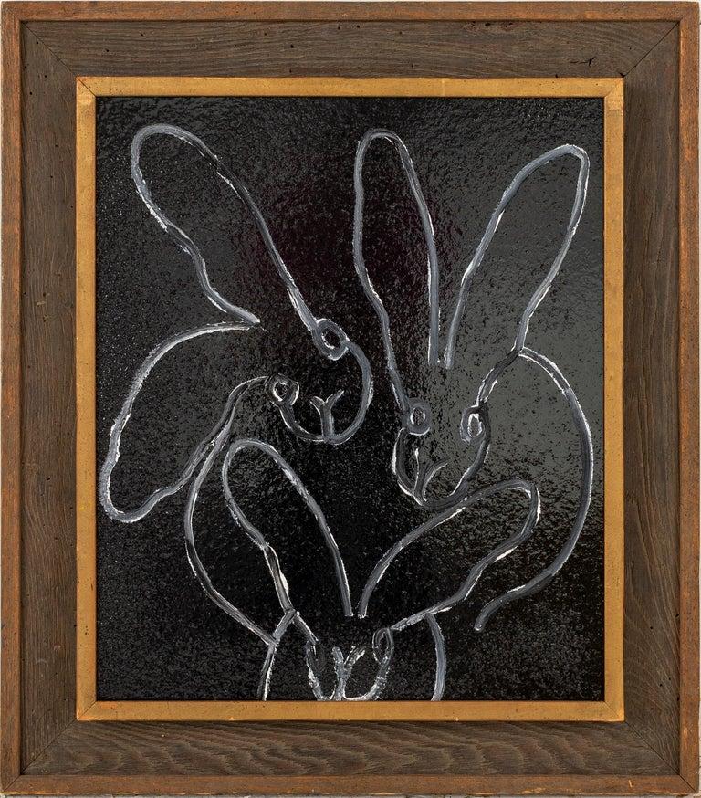 Hunt Slonem Animal Painting - Black Diamond Dust (bunnies)