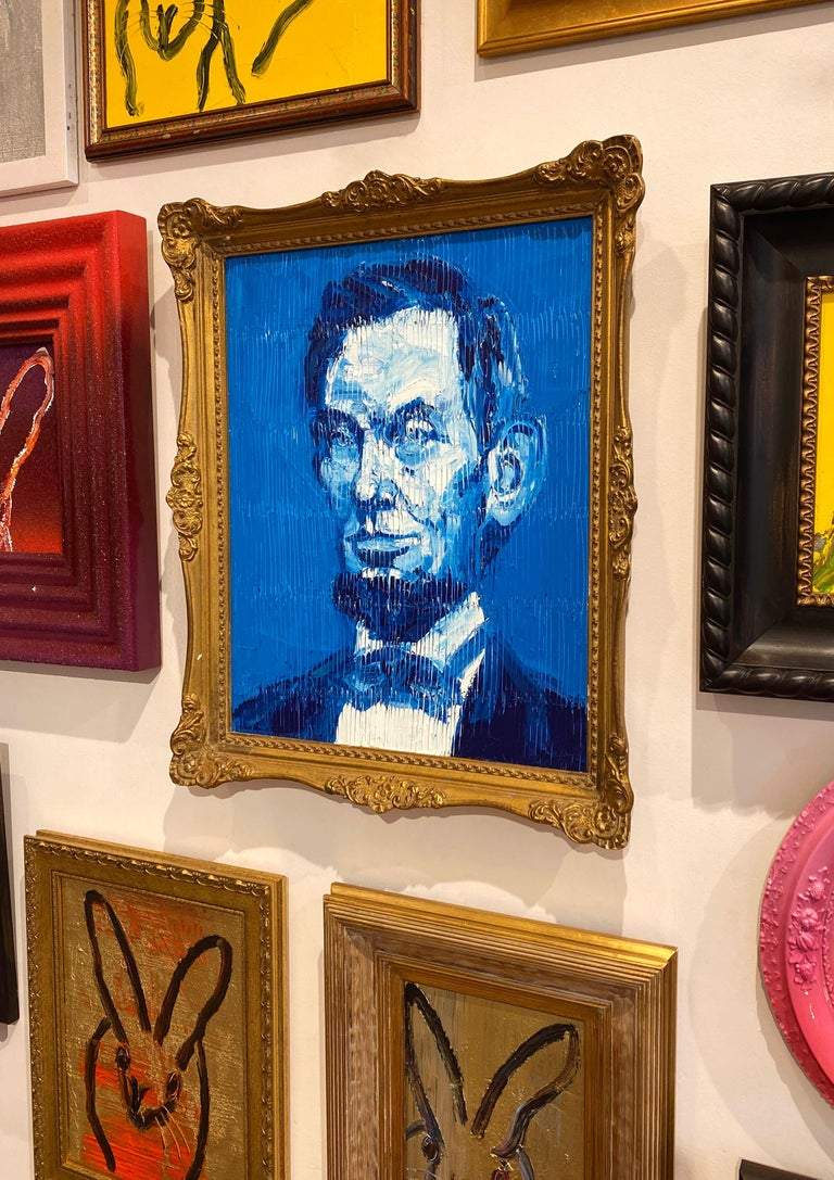 Blue Abe - Contemporary Painting by Hunt Slonem