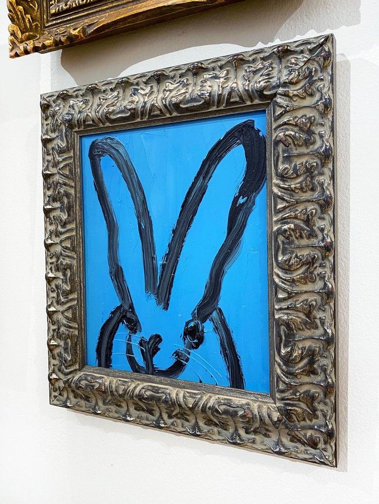 Artist:  Slonem, Hunt Title:  Blue Bunny Series:  Bunnies Date:  2021 Medium:  Oil on panel Unframed Dimensions:  10