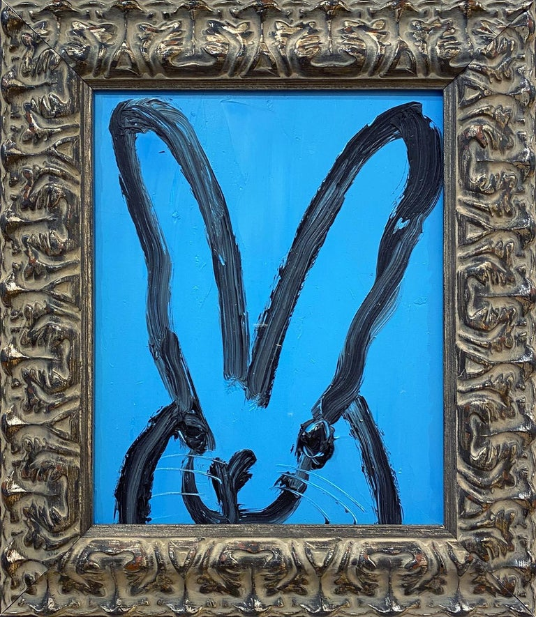 Hunt Slonem Animal Painting - Blue Bunny