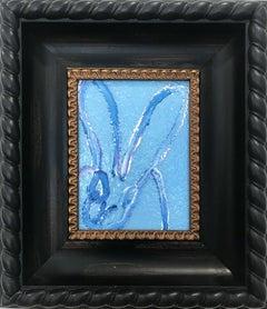 """Blue Diamond"" (Diamond Dust Bunny on Light Blue)"
