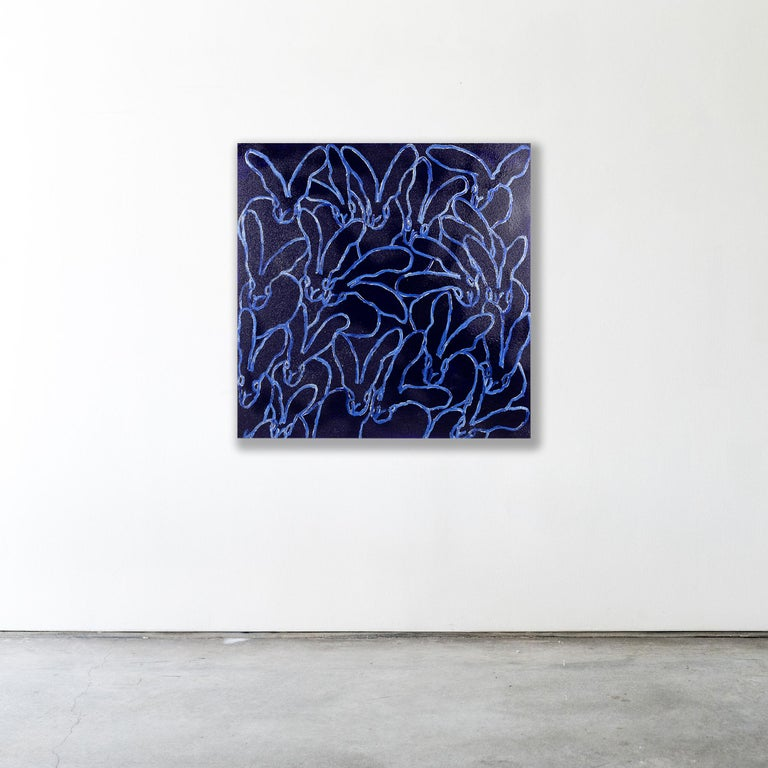 BLUE DIAMOND DUST - Contemporary Painting by Hunt Slonem