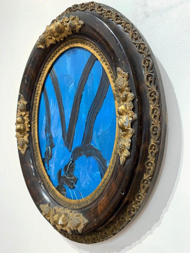 Blue - Painting by Hunt Slonem