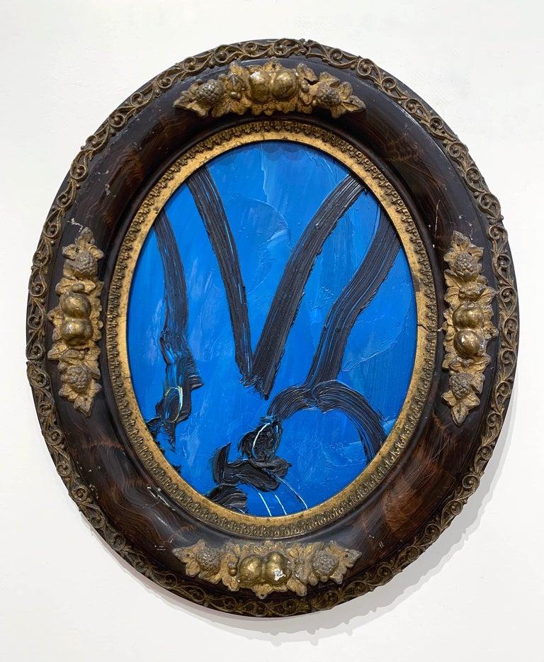 Hunt Slonem Portrait Painting - Blue