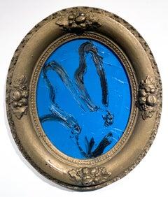 Blue Oval Bunny