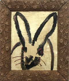 Boy Scout  (Black Bunny on Gold Background)