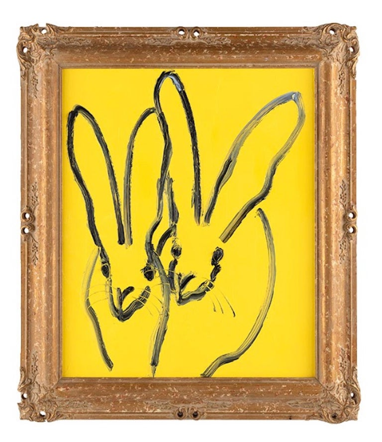 Hunt Slonem Animal Painting - Buttercup