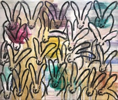 """""""Chinensis April"""" (Black Bunnies on Multicolored Background)"""