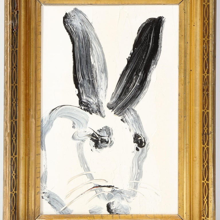 CS0100 (Bunny Painting) - Brown Abstract Painting by Hunt Slonem