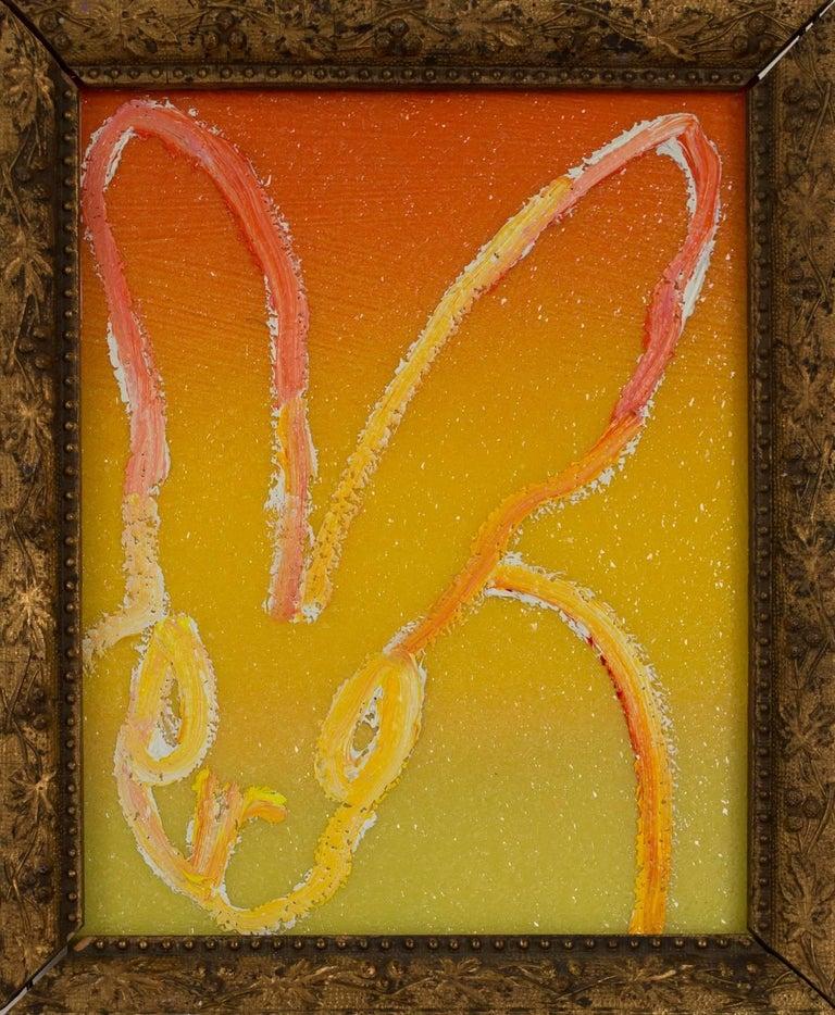 Hunt Slonem Animal Painting - Diamond Dust Ombre Bunny