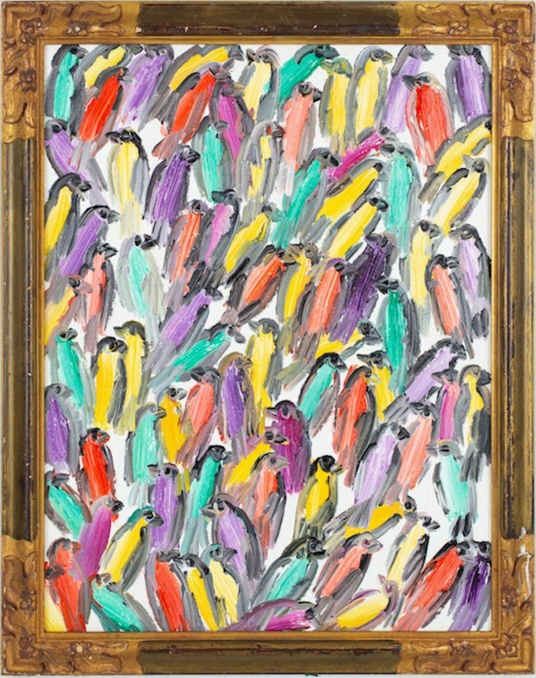 Hunt Slonem Animal Painting - Finches