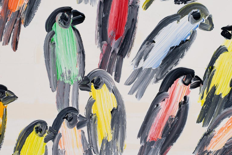 Finches Weds - Neo-Expressionist Painting by Hunt Slonem