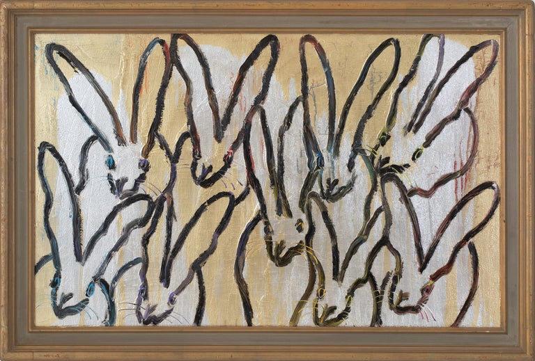 Hunt Slonem Animal Painting - Hares