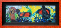 """Hawk Head Parrot,"" 1986, by Hunt Slonem, acrylic on canvas"