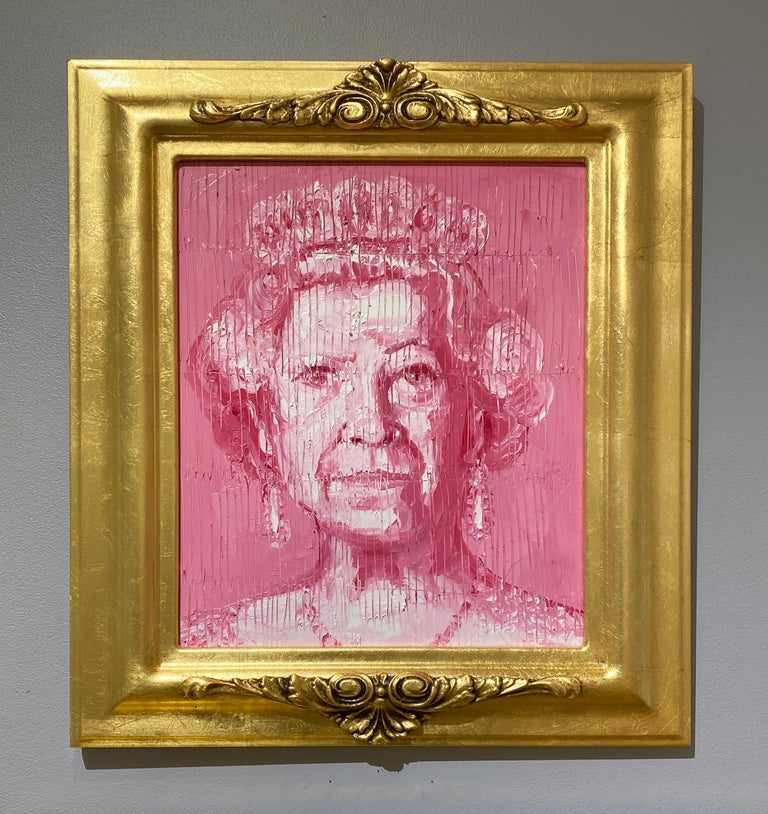 Her Majesty - Contemporary Painting by Hunt Slonem