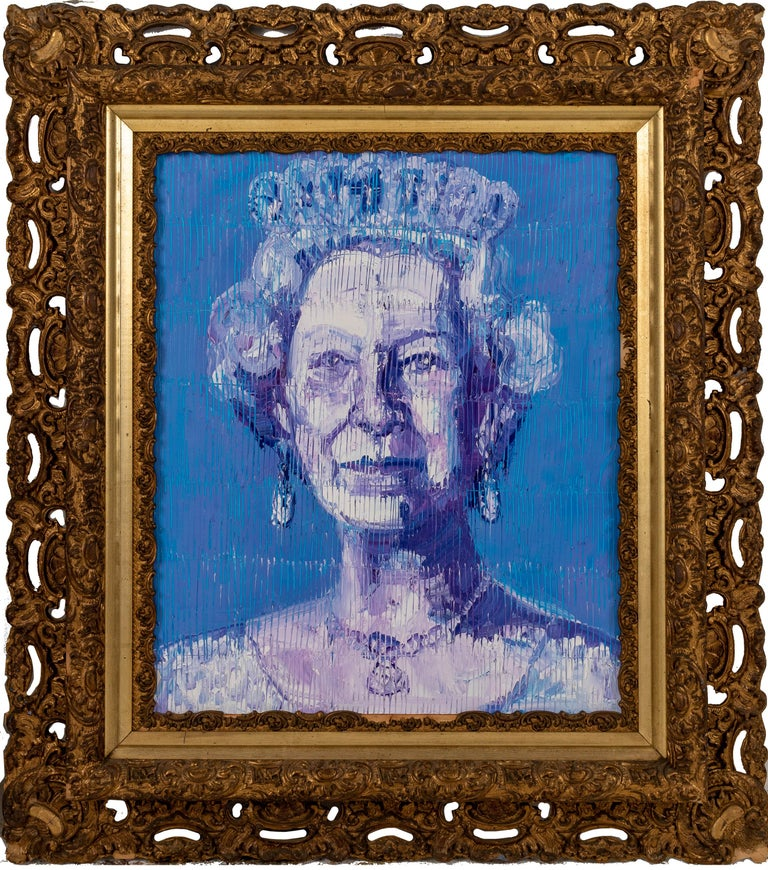 Hunt Slonem Portrait Painting - Her Majesty