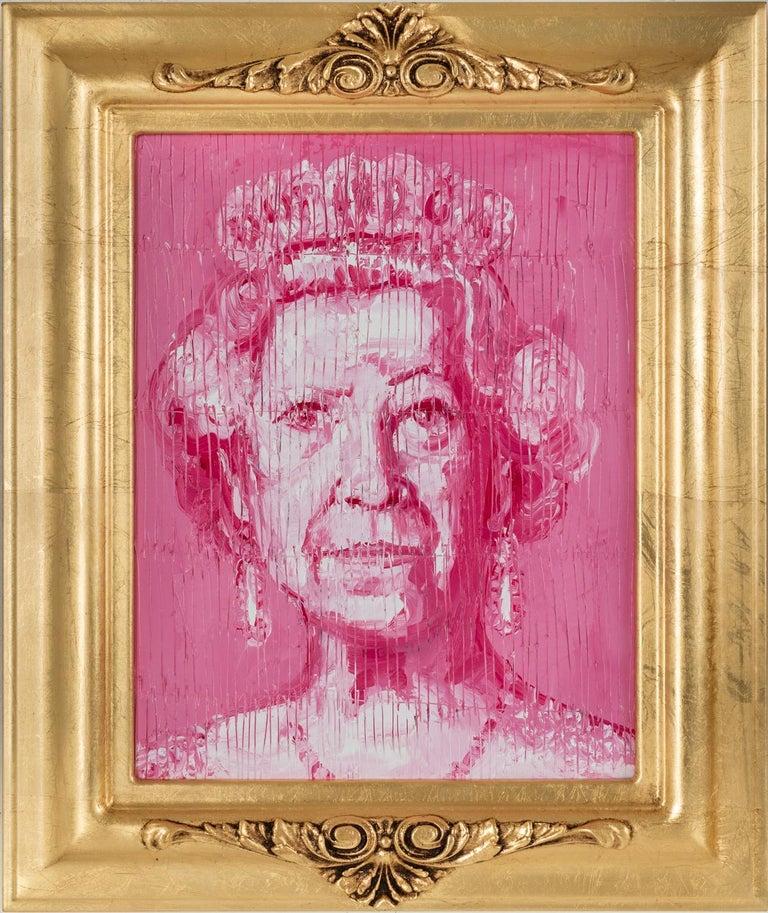 Hunt Slonem Portrait Painting - Her Majesty